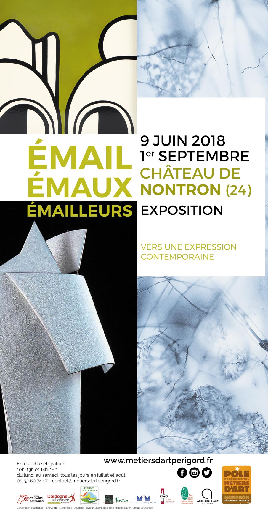 exposition email emaux emailleurs 2018 pole metiers art nontron
