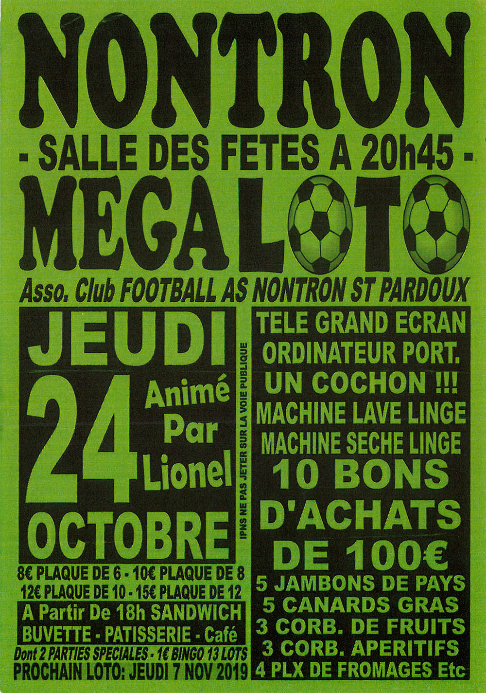Mega Loto du Foot 24 octobre 2019