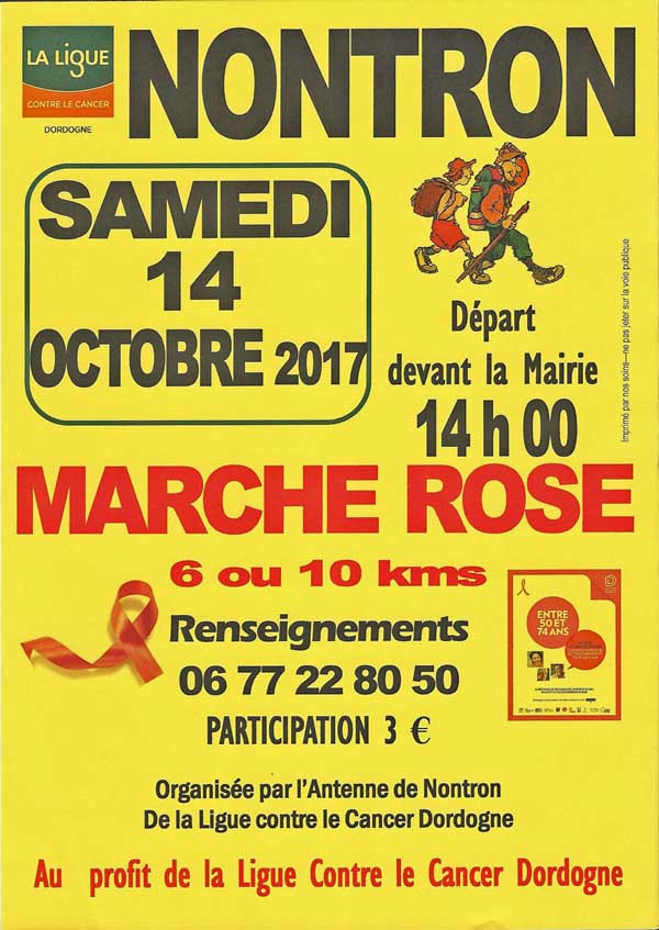 Marche Rose Octobre 2017